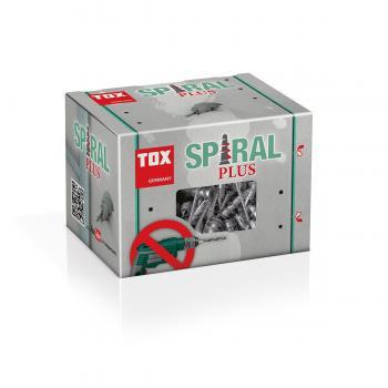 Tox 068101021 Gipskartondübel Spiral Plus 37-2 mit Schraube, 50 Stück