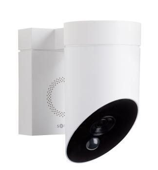 Somfy 2401560 Full HD Außenkamera mit integrierter Sirene weiß 110dB