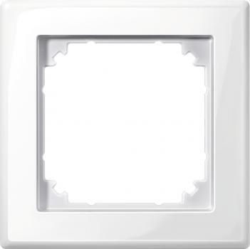 Merten 478119 M-SMART-Rahmen, 1fach, polarweiß glänzend