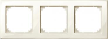 Merten 478344 M-SMART-Rahmen, 3fach, cremeweiß glänzend