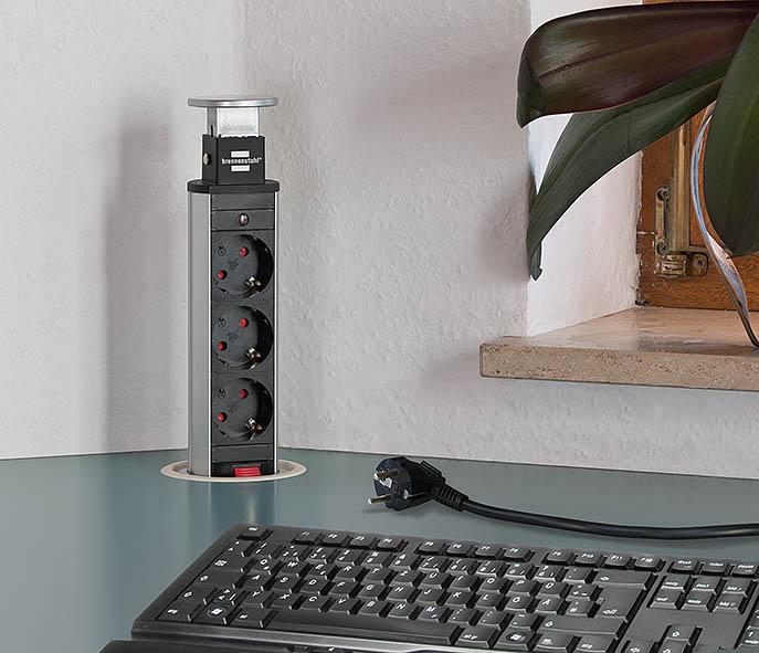 Elektro Theke De Brennenstuhl Tower Power Versenkbare Steckdose